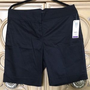 Attention black long shorts for narrow hips NWT 10